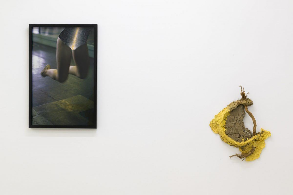 "Installation view of ""Maude Bernier Chabot, Brie Ruais, Elizabeth Zvonar. Afterimages"" at Musee d'Art de Joliette, 2020"