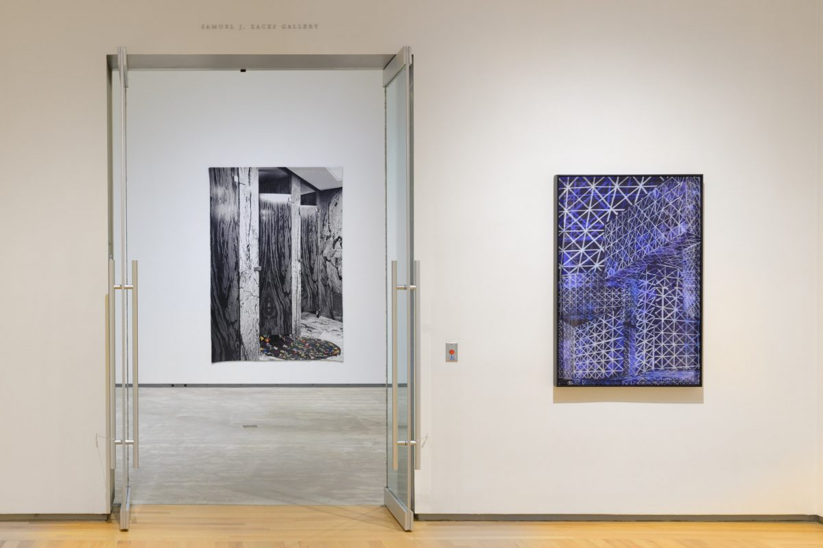 Installation view of Shannon Bool at Agnes Etherington Art Centre, Kingston, ON, 2020