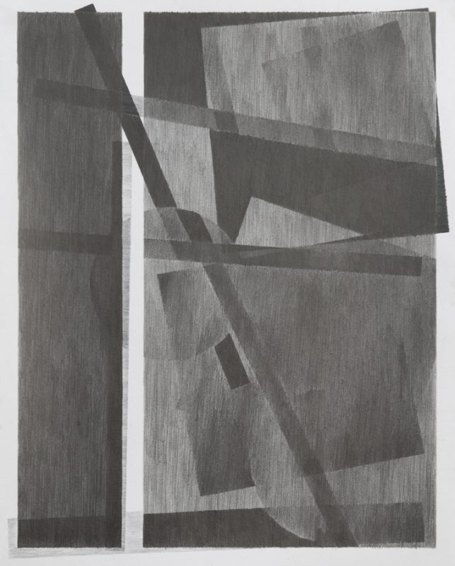 A drawing by the artist (two views of a sun bleached horizon), 2013