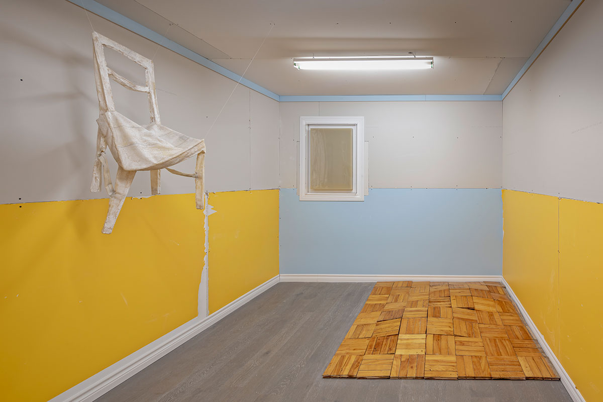 "Installation view of Iris Häussler in the group exhibition ""Undomesticated"" at Koffler Centre of the Arts, 2019"