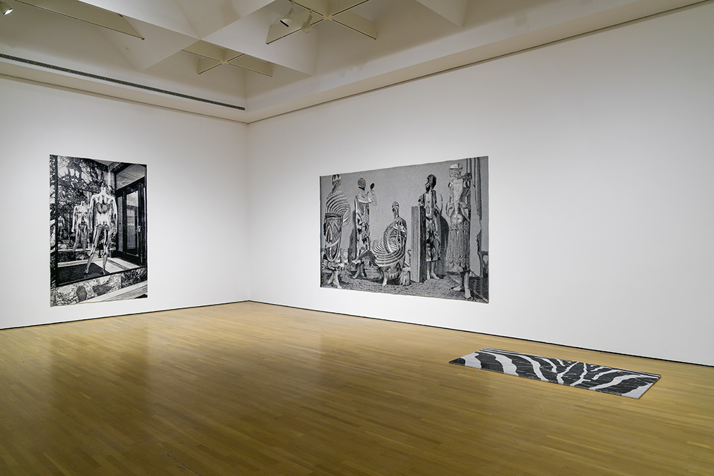 Installation view of Shannon Bool at La Biennale de Montréal, 2016