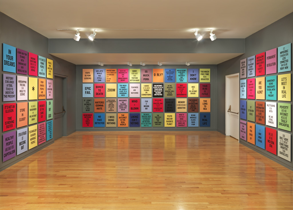 "Installation view of ""everywhere is anywhere is anything is everything"" at the Vancouver Art Gallery, 2014"