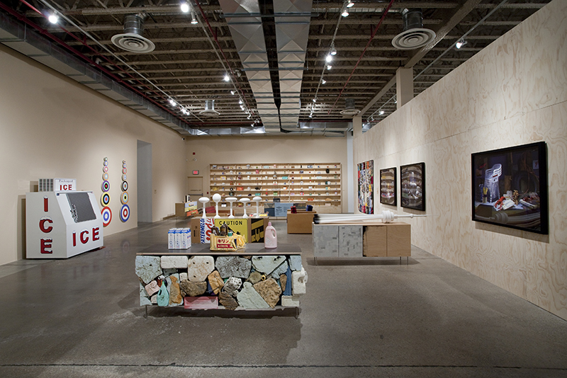 "Installation view of ""everywhere is anywhere is anything is everything"" at MOCCA, 2015"