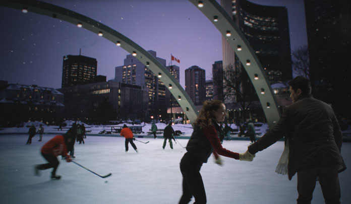 Nathan Phillips Square, A Winter's Night, Skating, 2009