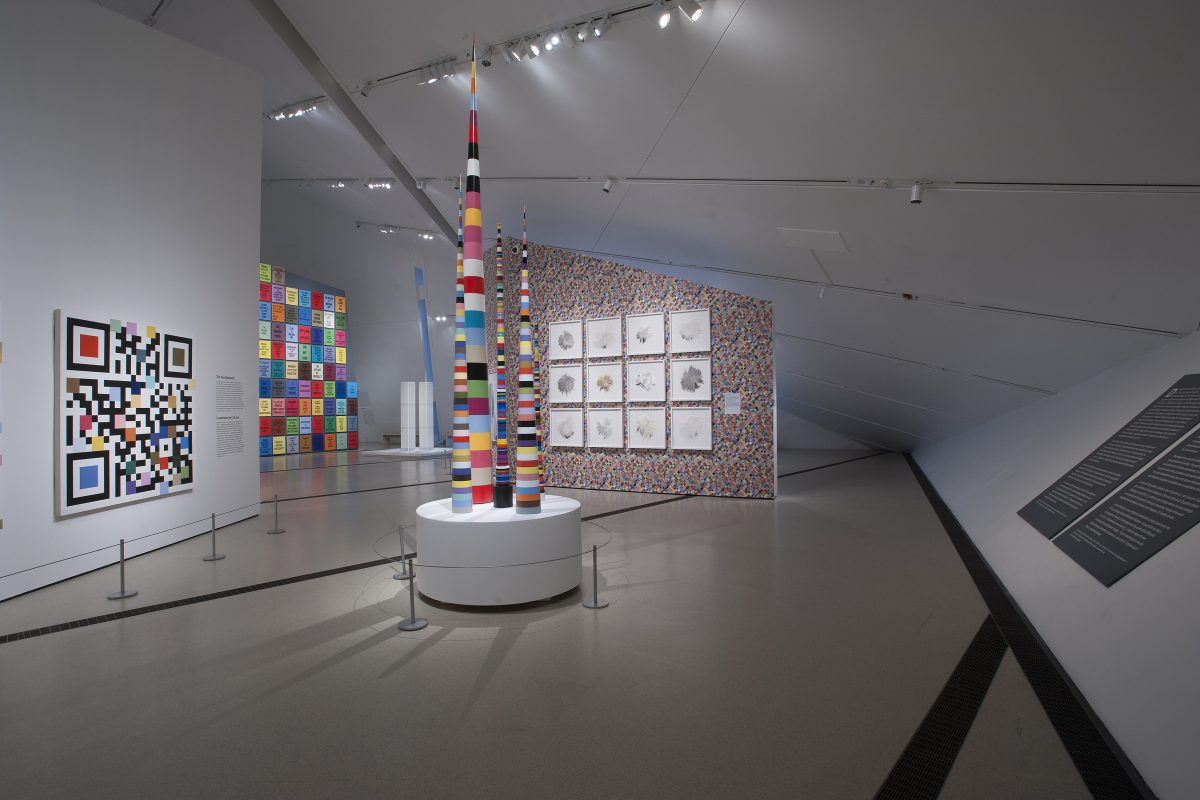 "Installation view of ""everywhere is anywhere is anything is everything"" at The ROM, 2015"