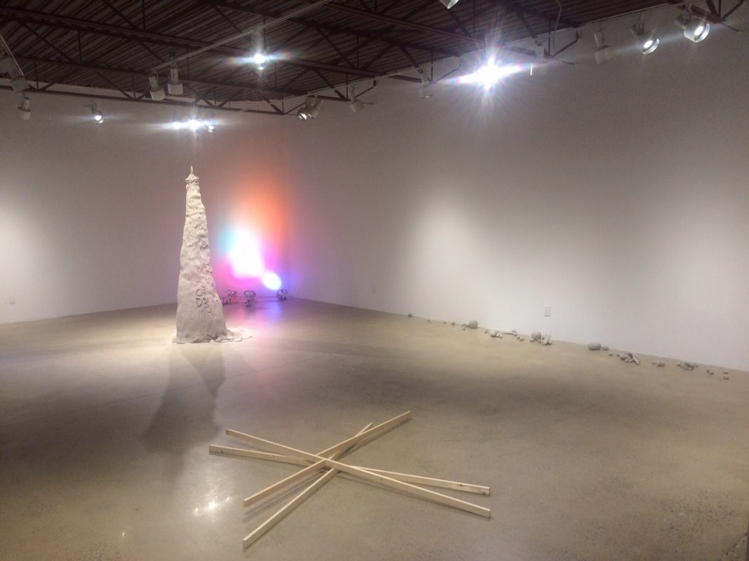 Installation view of Derek Liddington at AKA Artist-Run, Saskatoon, 2015