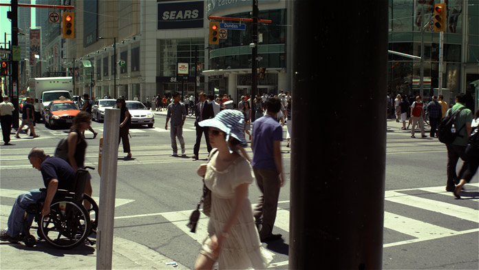 Mid Day Mid Summer, Corner of Yonge and Dundas, 2010