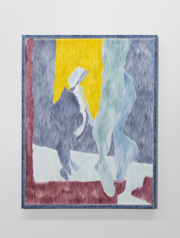 Three figures, one walking. 2017