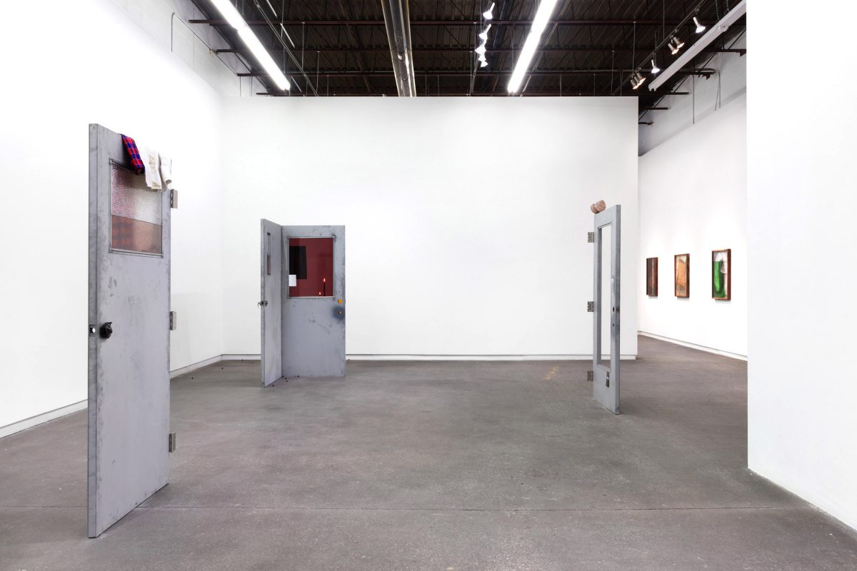 "Installation view of Nadia Belerique ""There's A Hole In The Bucket"" at Daniel Faria Gallery, 2019"