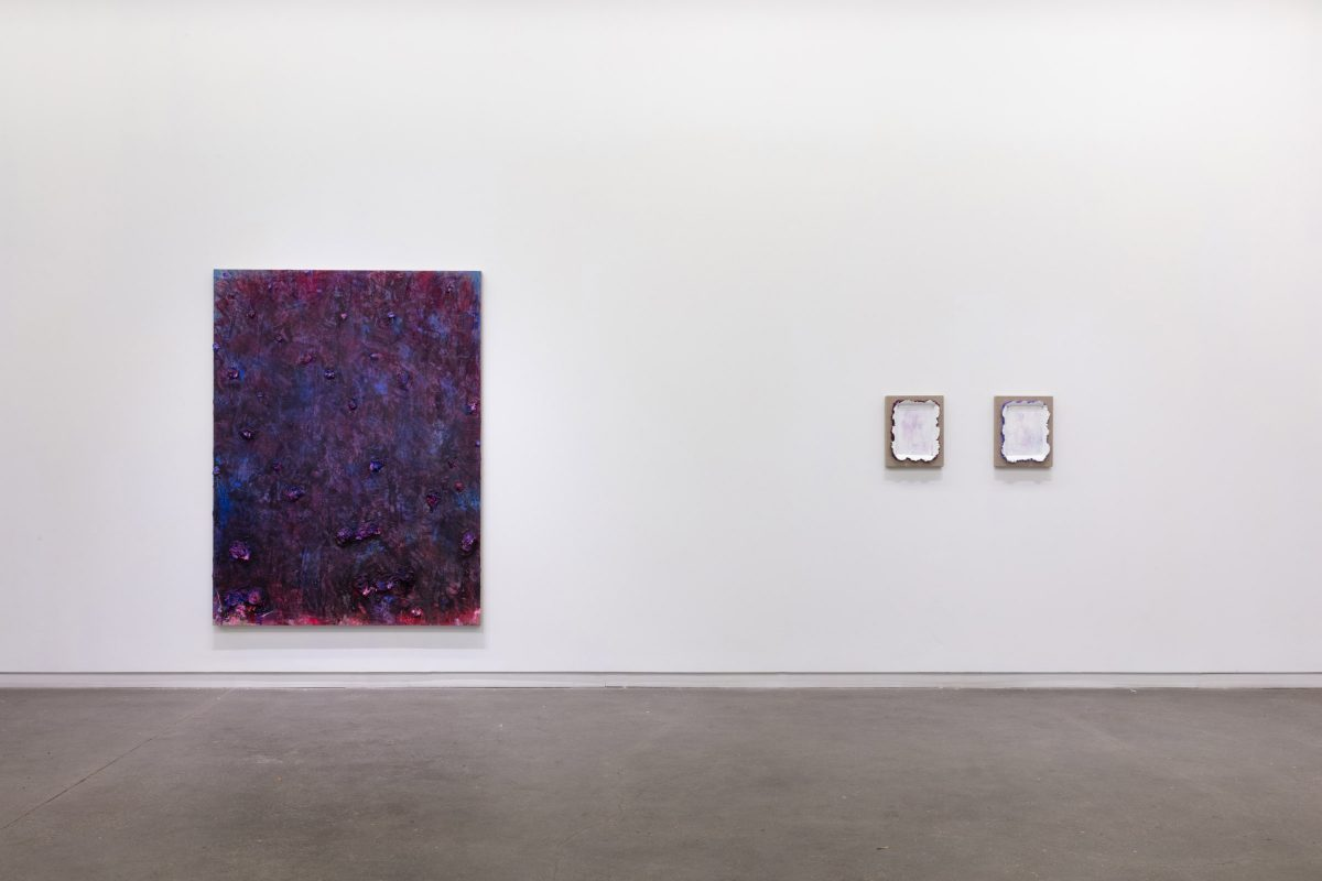 "Installation view of Andrew Dadson ""Green Peace"" at Daniel Faria Gallery, 2019"
