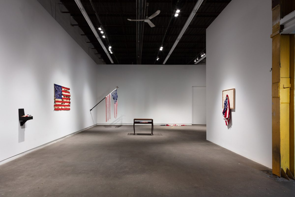 """Installation view of June Clark """"Unrequited Love"""" at Daniel Faria Gallery, 2020"""